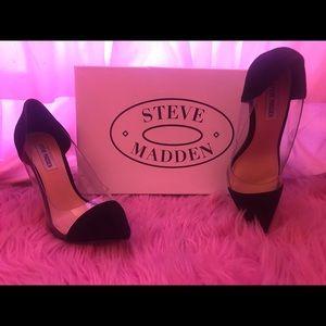 Steve Madden Donna Black Suede 8